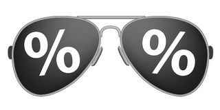 Sunglassess Percent Royalty Free Stock Images