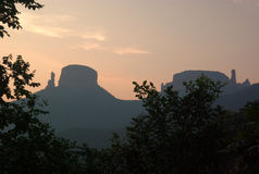 sunglow горы zhangzhiyan Стоковые Фотографии RF