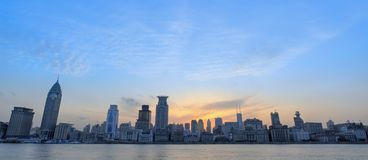Sunglow of Bund Shanghai Stock Photography