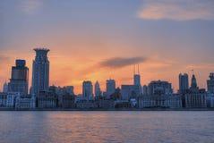 Sunglow der Promenade Shanghai Stockbilder