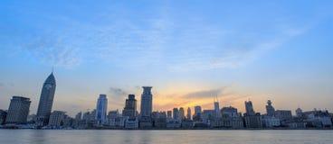 Sunglow der Promenade Shanghai Stockfotografie
