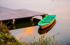Sunglow no rio Imagem de Stock