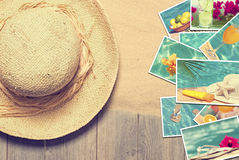 Sunhat & Postcards Stock Image