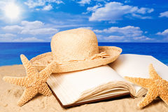 Sunhat In Sand Stock Image