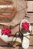 Sunhat and Sandals Royalty Free Stock Photo