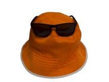 Sunhat and sunglasses. Sunhat and sunglasses isolated on white background Stock Photography