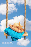 Sunhat On Swing Royalty Free Stock Photography