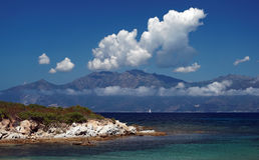 sunie Corsica western Obraz Royalty Free
