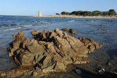 Sunie przy San Giovanni na wyspie Sardinia Obraz Royalty Free