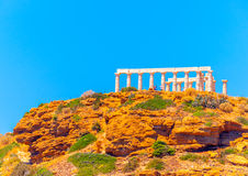 Sunio cape in Greece Royalty Free Stock Photography