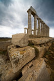 Sunion temple Stock Images