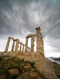 Sunion temple. Close to Athens Royalty Free Stock Image
