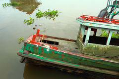 Sunk boat Stock Photo