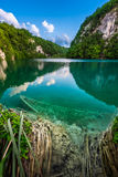Sunk Boat in Plitvice Lakes National Park Stock Photos