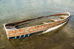 Sunk old boat Stock Photography
