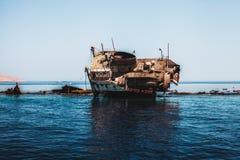 The sunk ship Stock Photos