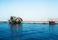 The sunk ship Royalty Free Stock Photos