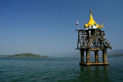 Sunk temple in Thailand Royalty Free Stock Photos