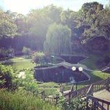 Sunken сады на заходе солнца Стоковые Фото