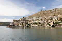 Sunken село в Halfeti, Urfa Стоковое фото RF
