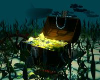 sunken сокровище Стоковое фото RF