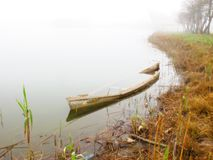 Sunken boat Stock Image