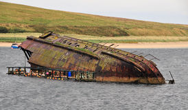 Free Sunken Boat At The Churchill Barrier, Orkney, Scotland, U.K.  Royalty Free Stock Image - 21840126