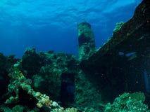 Sunken boat boreas on the Costa Brava stock photos