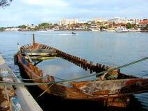Sunken boat, Buzios. Sunken boat, Buzios, Brazil Stock Images