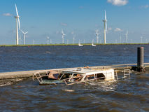 Sunken boat Stock Photos