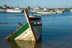 Sunken boat Royalty Free Stock Photo
