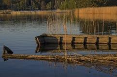 Sunken boat stock photography