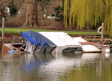 Sunken Boat on the River Thames Royalty Free Stock Photos