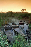 Sunken Boats Royalty Free Stock Photography