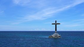 The Sunken Cemetery of Camiguin Island stock footage