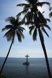Sunken cemetery cross camiguin island philippines Stock Images