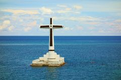 Sunken cemetery Stock Photo