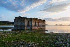 The sunken church in dam Zhrebchevo, Bulgaria Royalty Free Stock Photography