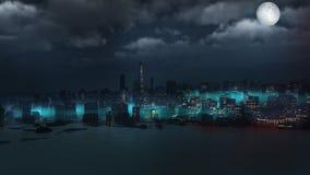 Sunken city Stock Photography