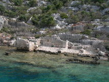 Sunken City Kekova Royalty Free Stock Images