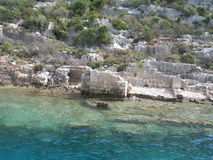 Sunken City Kekova Stock Photo