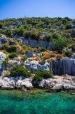 Sunken city of simena 2. The sunken city of Simena near kekova in Turkey Stock Photo