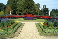 Sunken garden in Buckinghamshire, England Stock Photos