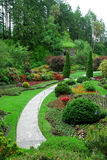 Sunken garden in butchart gardens Stock Photo