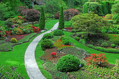 Sunken garden in butchart gardens Royalty Free Stock Photography