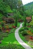 Sunken garden in butchart gardens Stock Image