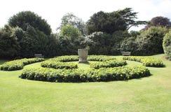 Sunken garden. flower beds. urn. garden scene Stock Photography