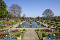 The Sunken Garden at Kensington Palace in London Royalty Free Stock Image