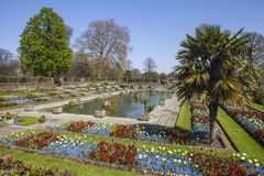 The Sunken Garden at Kensington Palace in London Royalty Free Stock Images
