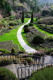 Sunken garden landscaping Stock Photos